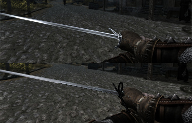 New Silver and Steel Swords 1st Person View