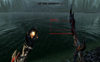 Character produces bow wave in about 5m away