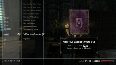 Conjure Skooma Bear Tome