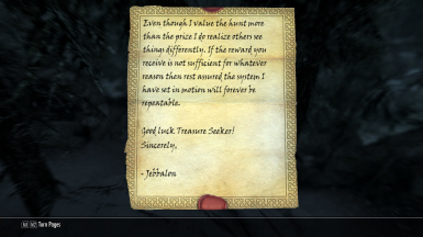 Letter From Jebbalon about treasure