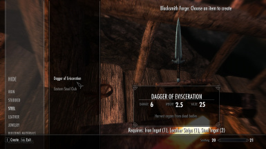 Craft the dagger at the forge