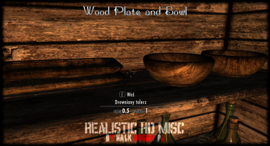 Wood Plate and Bowl - no ENB