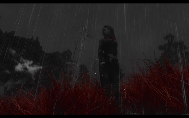 with Downpour rain texture