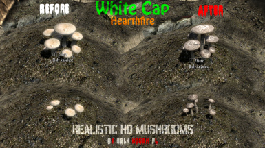 White Cap in Hearthfire Garden