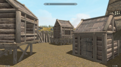 Shacks look great with Noble Skyrim Texture Overhaul