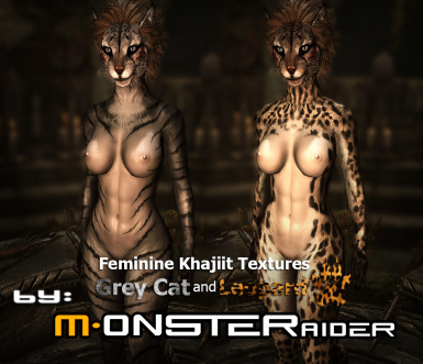 Feminine Khajiit Textures Grey Cat And Leopard At Skyrim Nexus