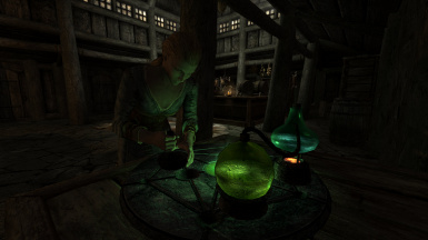 Rustic alchemy table with Delphine