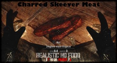 Charred Skeever Meat