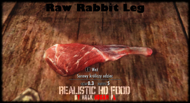 Raw Rabbit Leg