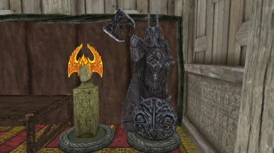 Crown of Barenziah and Ysgramor Shield-Axe Holder