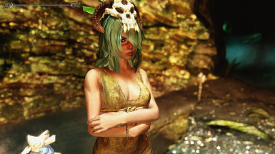 Neliel with bosmer headdress and enb