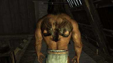 Back tattoo for male characters at skyrim nexus mods and for John wicks back tattoo