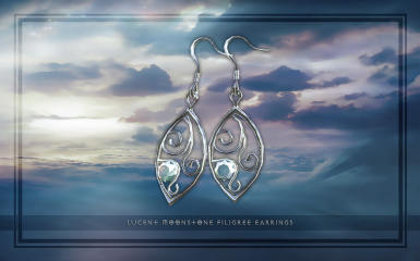 Lucent Moonstone Earrings HDT 01