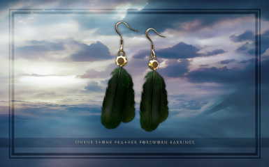 Sphene Stone Feather Forsworn Earrings