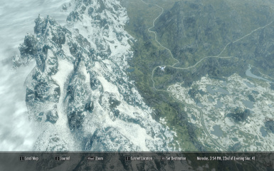 A clear world map with clouds at skyrim nexus mods and community dont use ini tweak eastmarch gumiabroncs Choice Image
