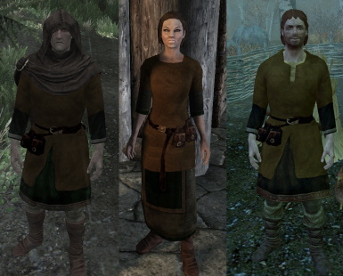 Nord clothes replaced with leather jerkins by Croc
