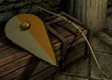 Auriel's shield and bow