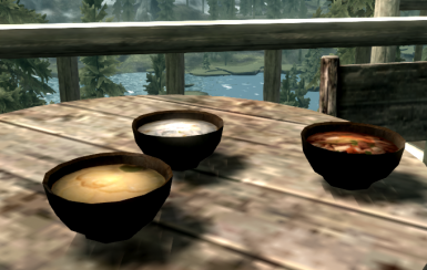 Soup on a fine day by the lake