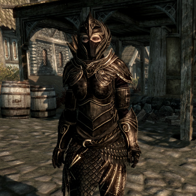 Black and Gold Armor with Mask