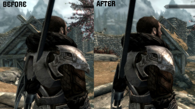 Dragonborn - Nordic Carved Armor 2H Weapon Clipping Fix