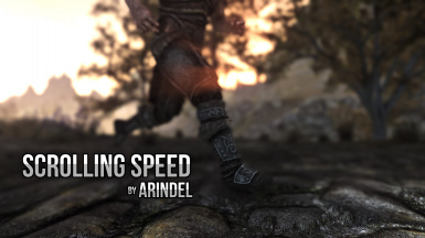 Scrolling Speed - adjust running speed with mouse wheel