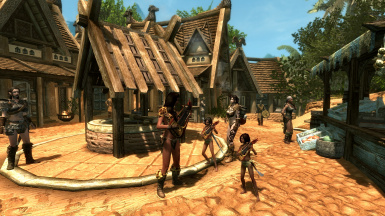 Impromptu Performance with Street Urchins of Tropical Ultimate Whiterun