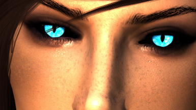 Arella Blue with Black Sclera