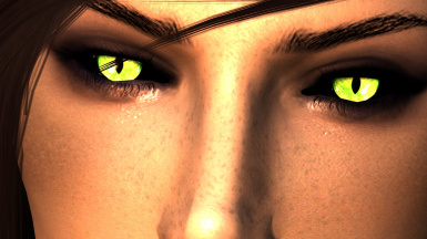 Arella Green with Black Sclera
