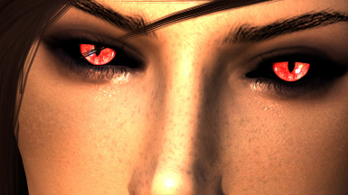 Arella Red with Black Sclera
