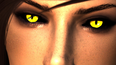 Arella Yellow with Black Sclera
