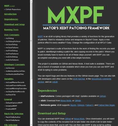 MXPF Documentation