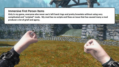 Immersive First Person Combat Items Fix