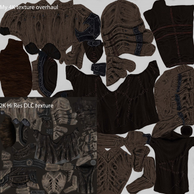 female cuirass texture comparison