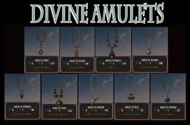 All 9 Divine Amulets Batch File at Skyrim Nexus - mods and community