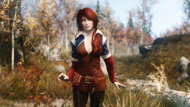 Blue Shoulders Triss Outfit