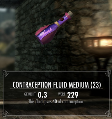 Contraception fluid