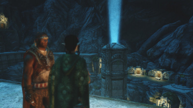 Sera and Bishop standing over the Forgotten City
