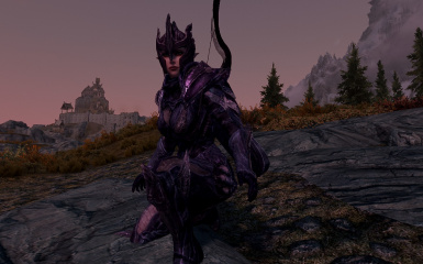 Velexia's Sexy Dark Glass Armor and Weapons