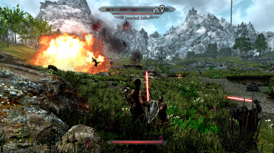 Whiterun Plains Battle Explosion