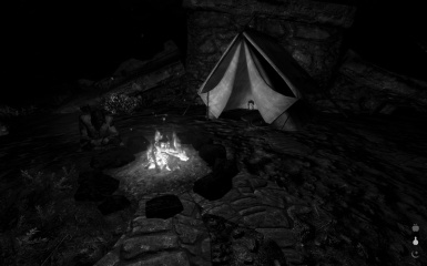 Main Menu Replacer - Camping by the Fire