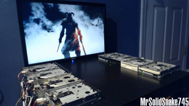Main Menu Music Replacer - Sons of Skyrim Remake on eight floppy drives