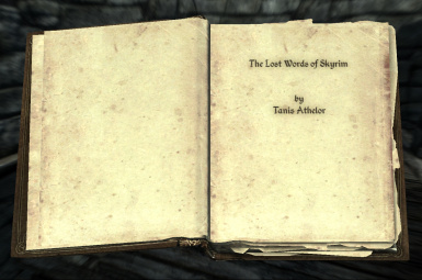 The Lost Words of Skyrim