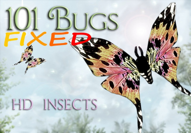 83Willows 101BugsHD Butterfly Dragonfly Luna-Moth Torchbug_FIX PATCH