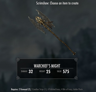 Warchiefs Might - requires Immersive Weapons and Immersive Weapons Patch