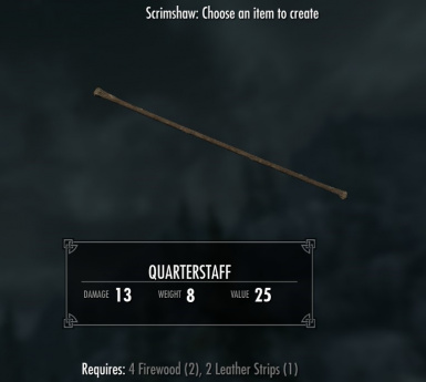 Quarterstaff - requires Immersive Weapons and Immersive Weapons Patch