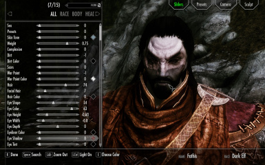Fathis - Dunmer Male Preset for Racemenu