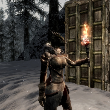 Argonian with hood down