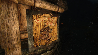 Bannered Mare - Whiterun Night