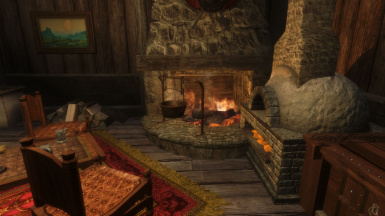 Oven and Fireplace