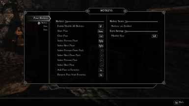 Poser HotKeys Menu - 1